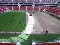Уложить за 45 секунд. Смена газона на арене Варшавы