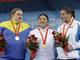 Золотую медаль взяла представительница Кореи Миран Джанг, которая в сумме подняла 326 кг, что является новым мировым и Олимпийским рекордом