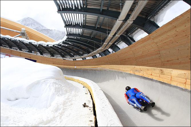 Санно-бобслейная трасса олимпийского комплекса Санки
