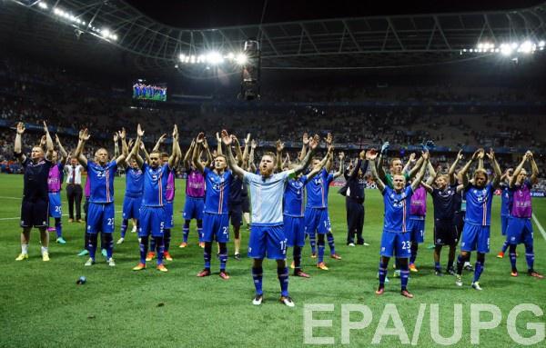 Сборная Исландии сенсационно пробилась в восьмерку лучших на Евро-2016