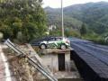 Финский гонщик припарковался на крыше сарая
