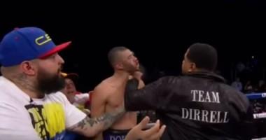 Дядя Диррелла, после боя племянника, избил его соперника на ринге