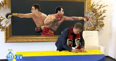 Ребров подписал флаг для Кличко перед боем с Джошуа