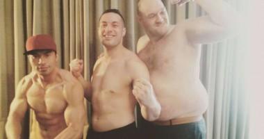 Танец дня: полуголый толстяк Тайсон Фьюри зажигает вместе с командой Джозефа Паркера