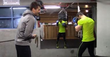 Усик и Гвоздик провели совместную тренировку
