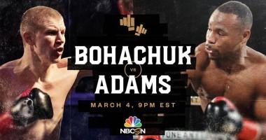 Богачук - Адамс: видео нокаута