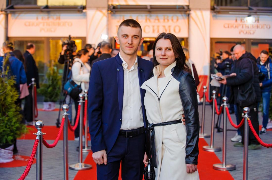 Дмитрий Пидручный с супругой на церемонии