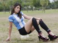 Футбол на каблуках: аргентинская модель умело обращается с мячом