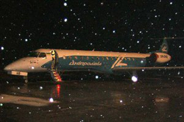 Самолет с игроками Шахтера едва улетел из Полтавы