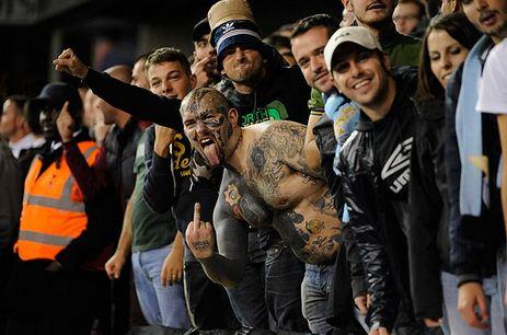 Болельщики Лацио на стадионе