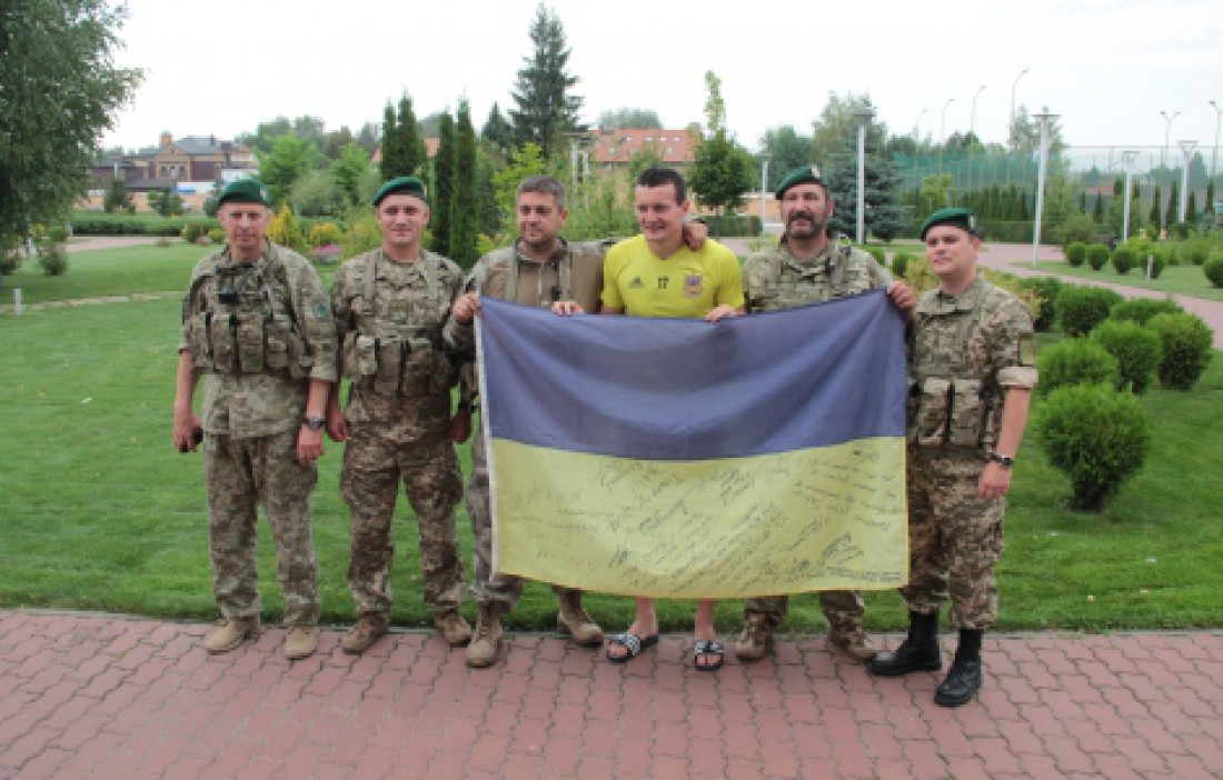 Артем Федецкий и бойцы АТО