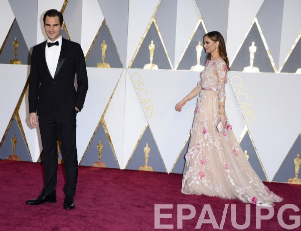 Роджер Федерер на церемонии вручения Оскар