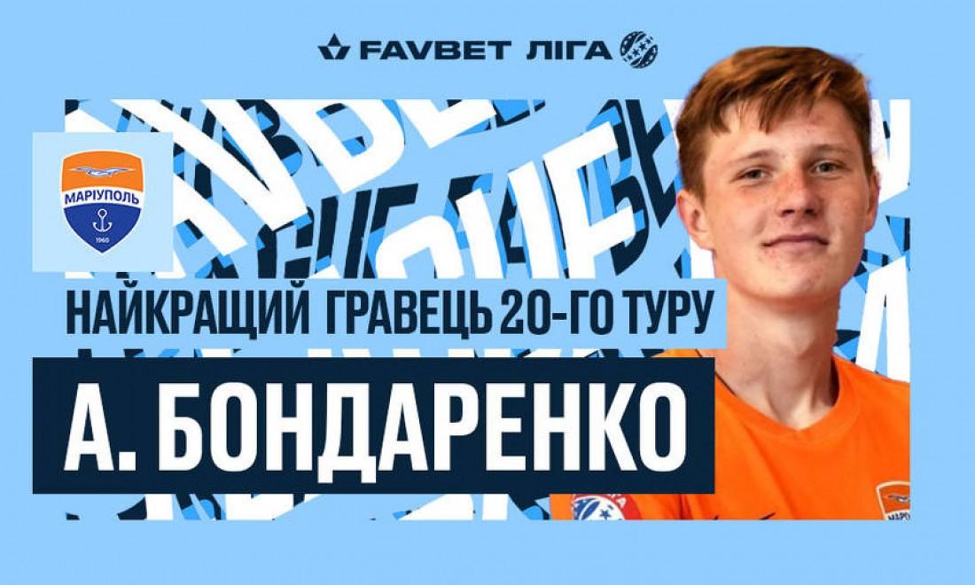 Бондаренко – лучший игрок 20-го тура УПЛ