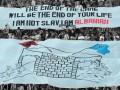 В Албании фанаты во время матча Лиги Европы вывесили антиславянский баннер