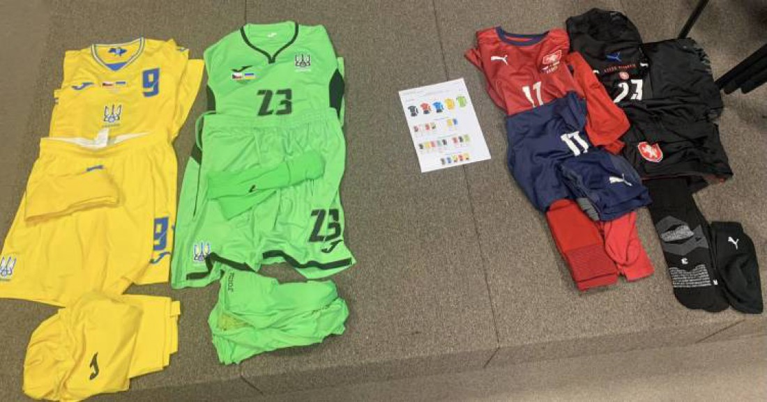 Формы сборных Украины и Чехии на товарищеский матч