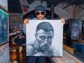 Портрет из гвоздей: Ломаченко изобразили на холсте необычным способом