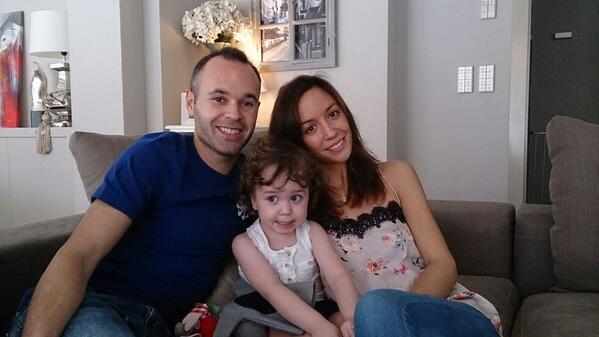 Семья Иньеста: Андреас, Анна и маленькая Валерия