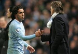 Манчини: Карьера Тевеса в Манчестер Сити закончена