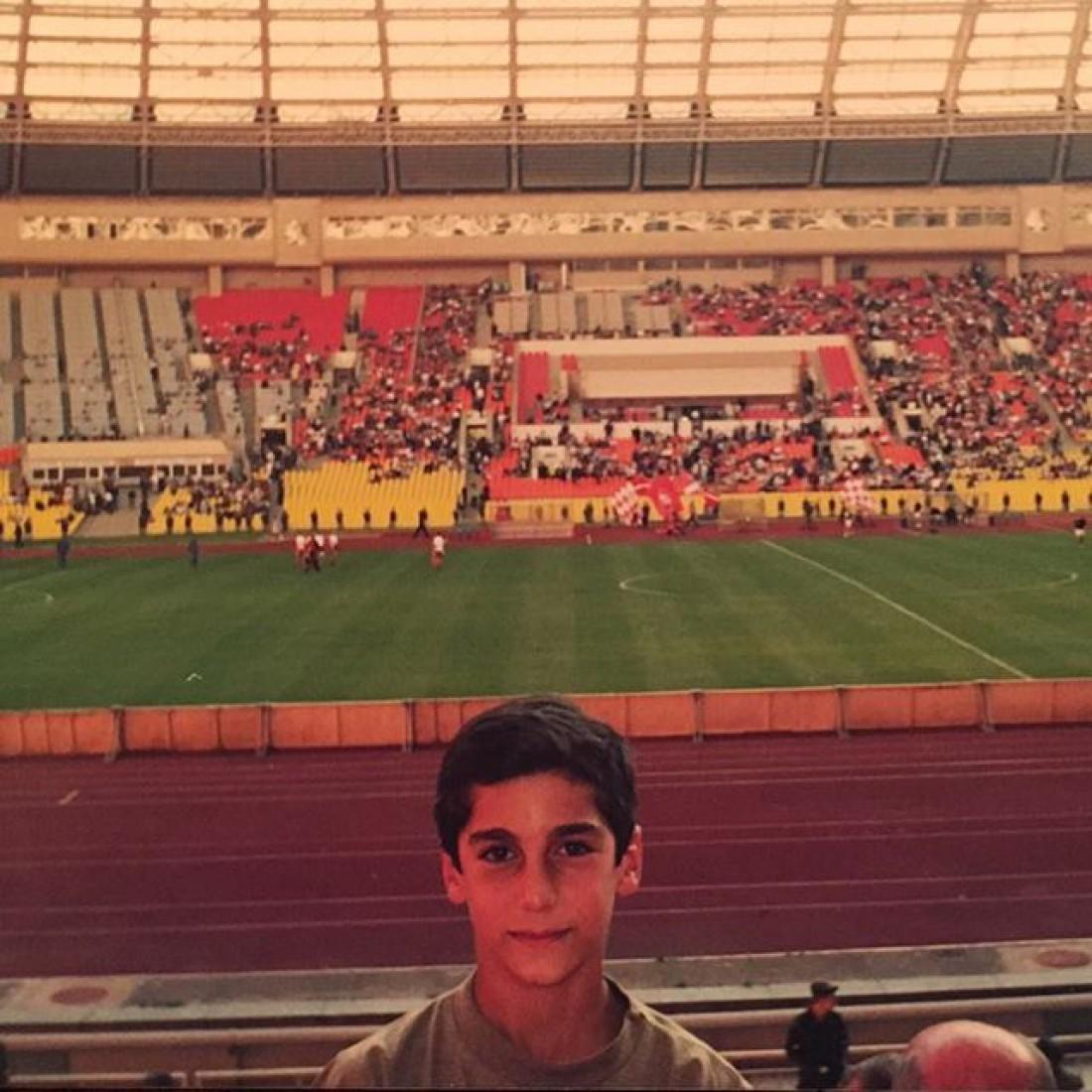 Мхитарян впервые на футбольном матче