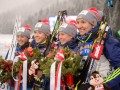 Украина завоевала серебро в женской эстафете на чемпионате мира
