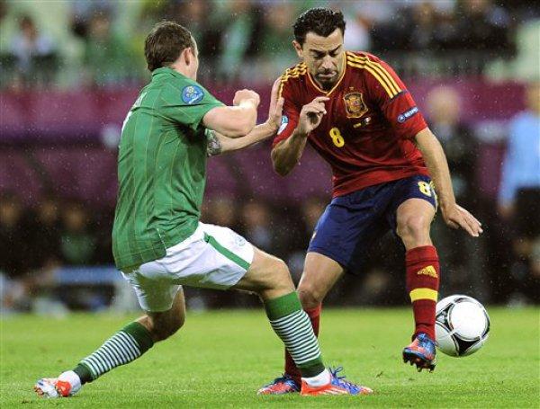 Хави Эрнандес в том самом рекордном для себя матче против Ирландии