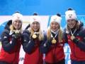 Норвегия - третья сборная, выигравшая все женские биатлонные эстафеты в сезоне