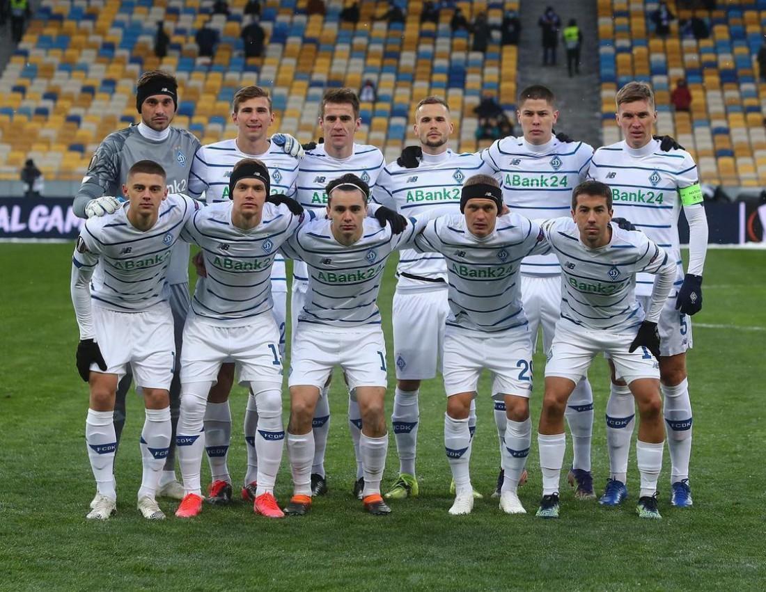 Футболисты Динамо перед матчем с Брюгге