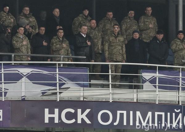 Петр Порошенко на матче Динамо - Ман Сити