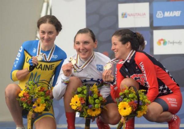 Призеры велогонки на чемпионате мира