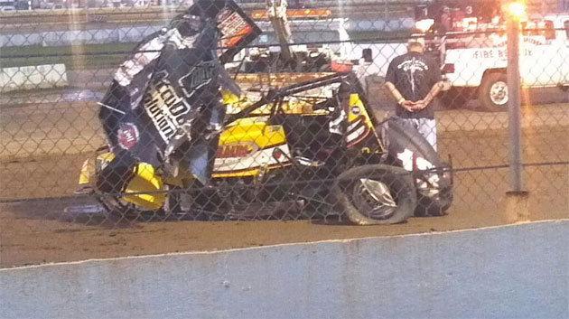 Автомобиль Леффлера попал в страшную аварию