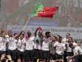 Игроки сборной Португалии исполнили битбокс на чемпионском параде