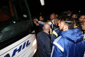 В Турции обстреляли автобус с футболистами Фенербахче