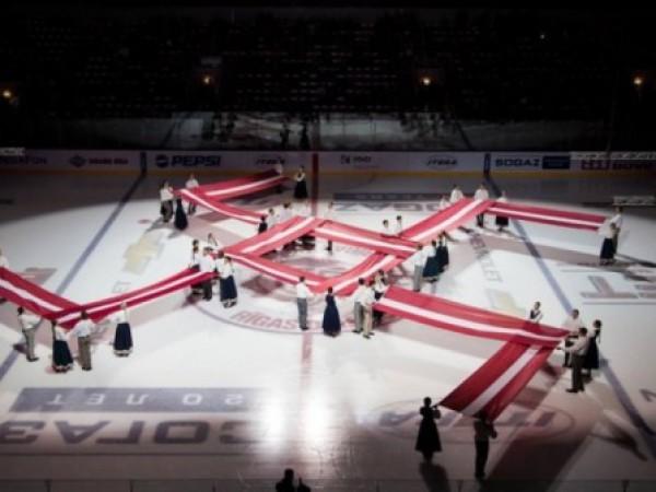 Перед матчем КХЛ появился символ, похожий на свастику