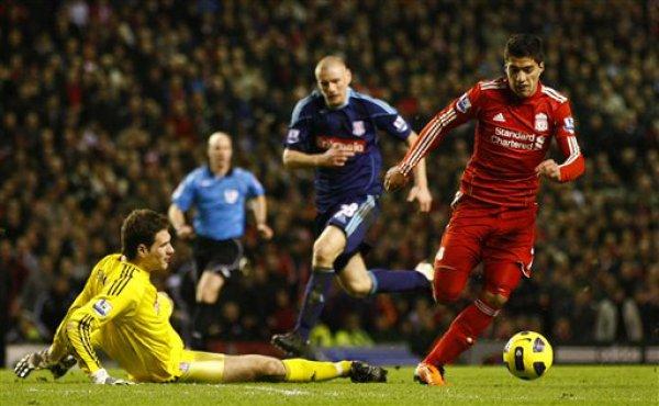 Суарес забил гол в первом же матче за Ливерпуль