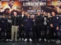 Ломаченко, Усик и Гвоздик взвесились перед боем: фото церемонии