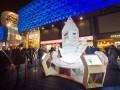 Болеем за наших: В Киеве открыли ледяной символ поддержки украинских олимпийцев (ФОТО)