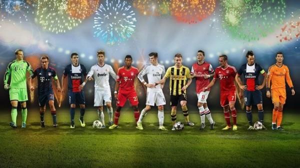 Читатели UEFA выбрали символическую сборную 2013 года