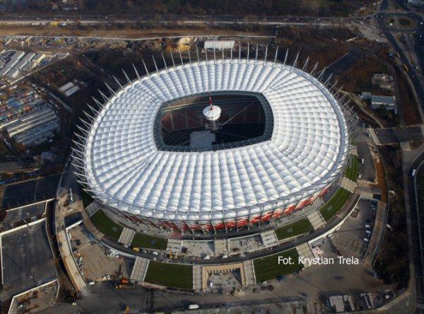 Национальный стадион достроен, но пока на нем нет газона