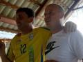 Вацко и Цыганык прошли посвящение в сборной Украины среди ветеранов, спев Червону руту
