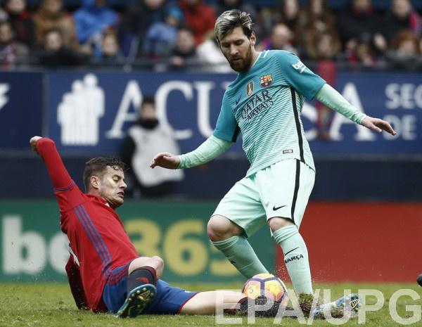 «Барселона» дома разгромила «Осасуну» в34-м туре чемпионата Испании пофутболу
