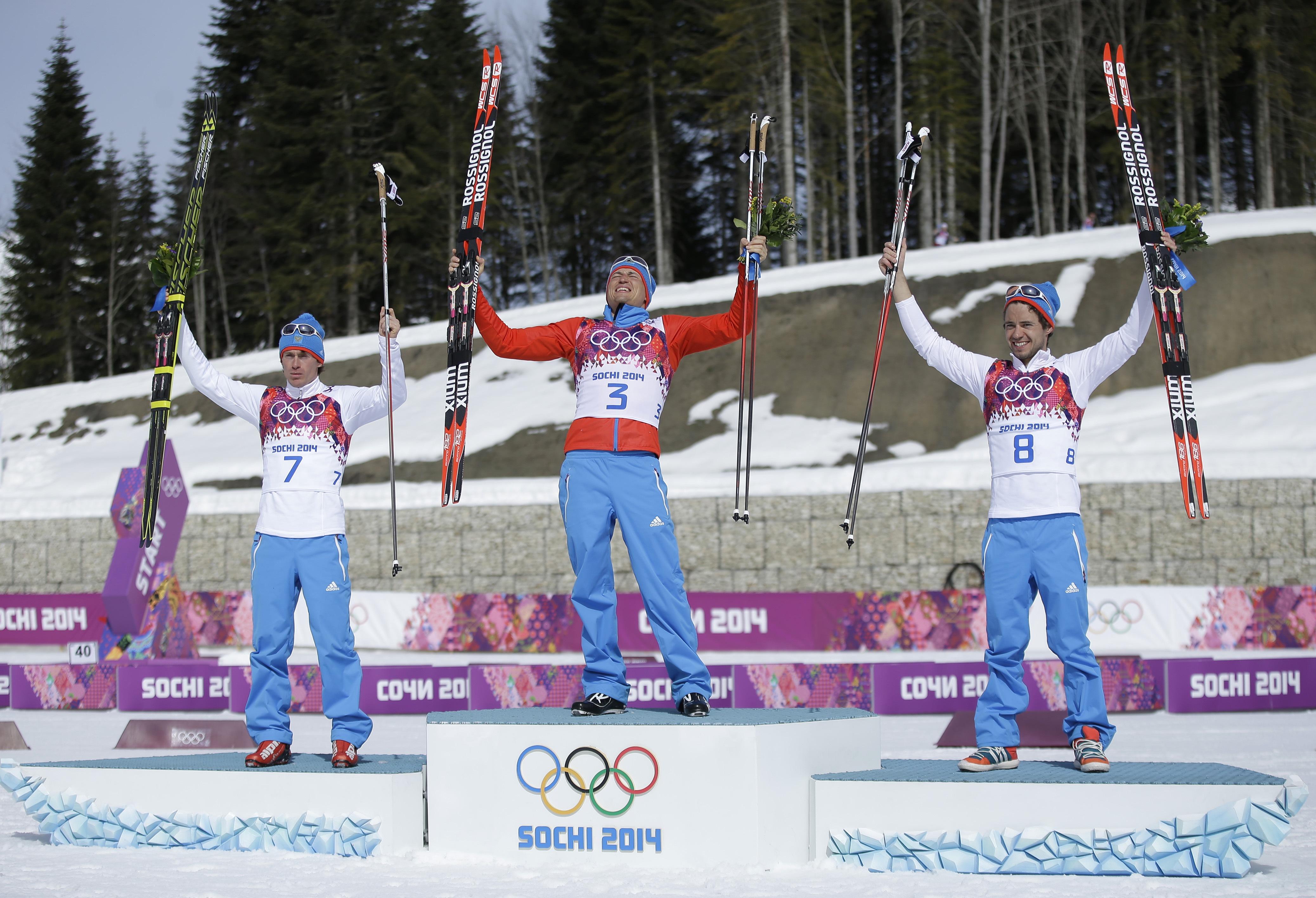 Российские лыжники заняли весь пьедестал
