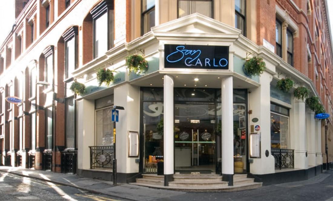 Ресторан Сан Карло в Манчестере