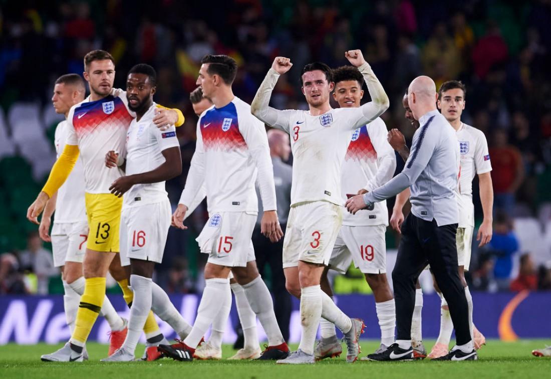 Видео голов и обзор матча Испания - Англия