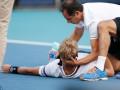 Во время матча в Майами испанский теннисист из-за судороги упал на корт и не смог встать