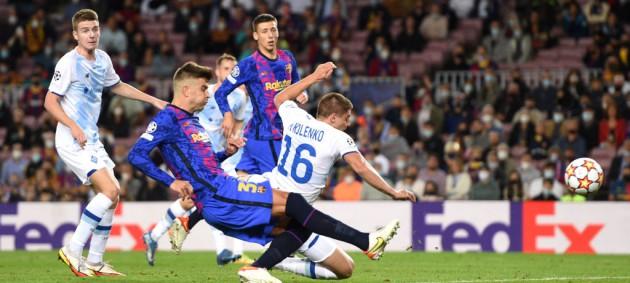 Барселона минимально обыграла Динамо и набрала первые очки в Лиге чемпионов