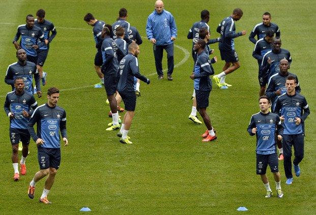 Сборная Франции начала подготовку к матчам против Украины