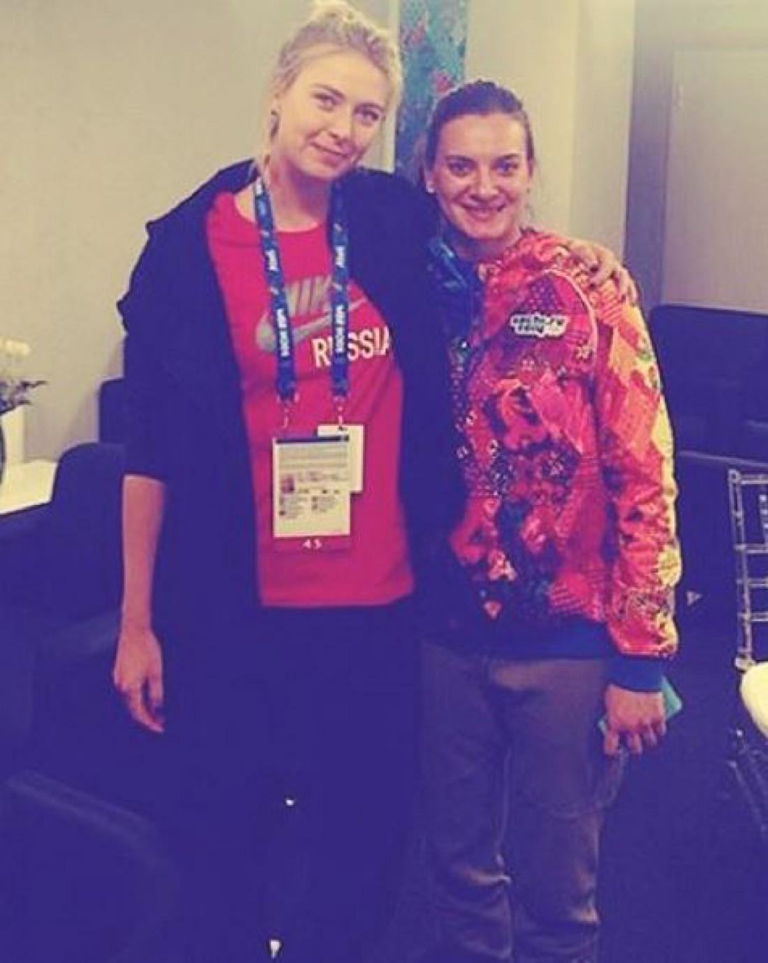 Мария Шарапова и Елена Исинбаева