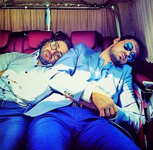 Милевский и Адлейба мило спят в машине