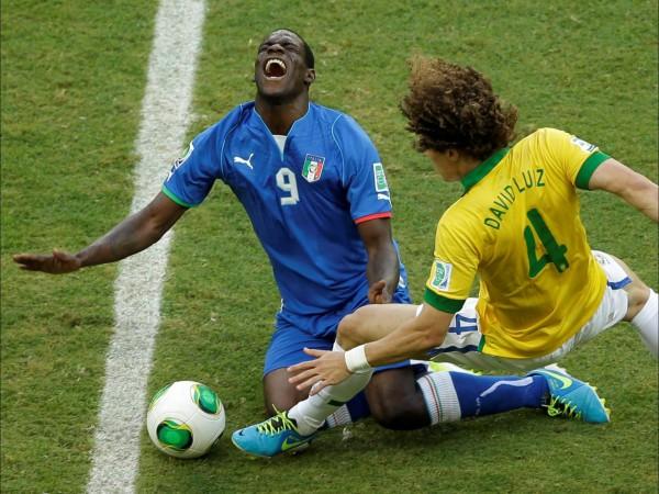 Матч против Бразилии стал последним для Балотелли на Кубке Конфедераций