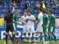 Форварда Днепра дисквалифицировали на три матча за опасный удар вратаря Оболони